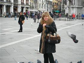 на площади Сан Марко с новой сумкой