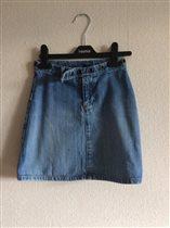 Юбка джинсовая gap, 114-120. 100р.