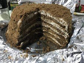 Вкуснейший шоколадный торт с маскарпоне и бананом!