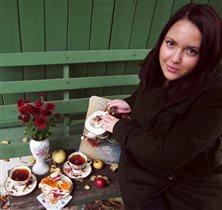 Неспешное чаепитие в саду...