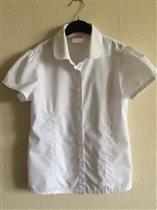 Школьная рубашка на 134 см. 400р.