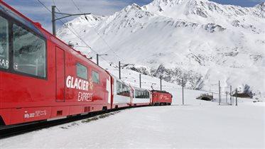 Ледниковый экспресс Церматт-Санкт-Мориц - красота и летом, и зимой