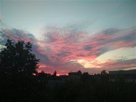 Блиц:небо в облаках. 'Вечернее небо'