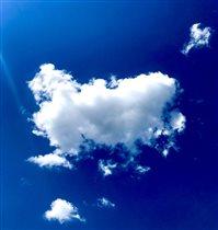 Облака плывут над головой, приглашая нас с собой
