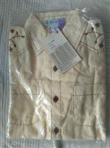 Рубашка бежевая V-day. размер 8 лет, 400 руб