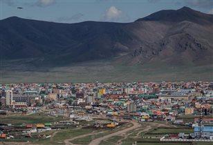 Разноцветные крыши. г.Мурэн Монголия