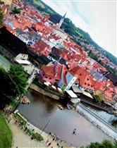 Панорама Чешского Крумлова мировое наследие ЮНЕСКО