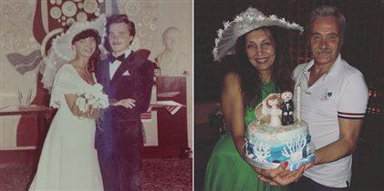 Беременная Регина Тодоренко, Влад Топалов и торт в честь 35-летия свадьбы её родителей