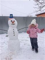 Вот мой снеговик) Как Вам?