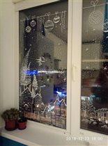 Зимняя сказка на окне