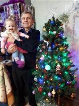 Я с внучкой Люсечкой