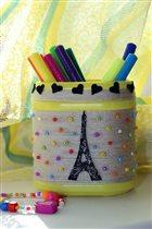 Карандашница своими руками 'Париж'