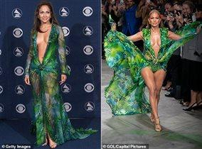 Дженнифер Лопес зелёное платье