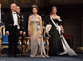 Королева Швеции Сильвия Нобелевский банкет