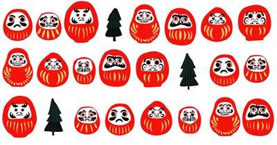 Японские ёлки: дарума-вечеринка. Мастер-классы, чай матча и японские сладости