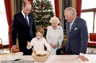 Королева принц Чарльз принц Джордж