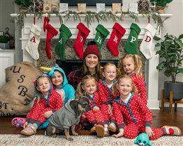 Пятерняшки Басби девочки рождество