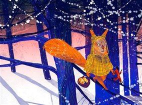 Новогодние елки «Сказки зимнего леса или Зима, это ты?» в Афимолл