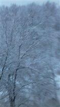 Весенние краски с зимним пейзажем снега