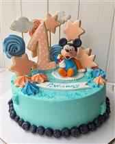 Тортик на первый годик Руслана