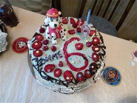 Торт своими руками на День Рождение сына!