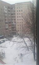 Апрель. Вид из окна.