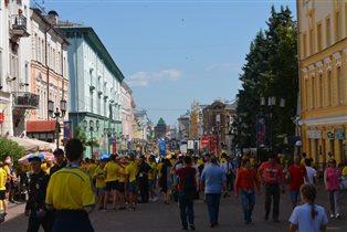 'Желтая река' на улице Нижнего Новгорода