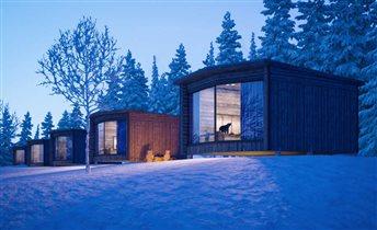 Дом в тайге с панорамным остеклением - когда в гости приходит медведь