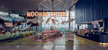 Кафе муми-троллей Moomin café отрыто в аэропорту Хельсинки