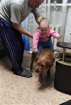 Андрейка оседлал своего лучшего друга Джоника