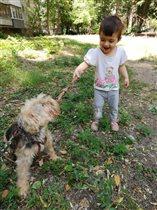 Дрессировка любимой собаки!!! 😍