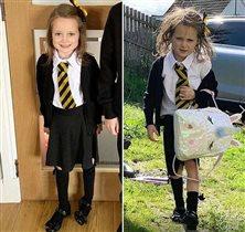 Первый день в школе: фото до и после линейки