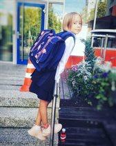 Школьный рюкзак для девочки: что выбрала для дочери Дарья Мороз