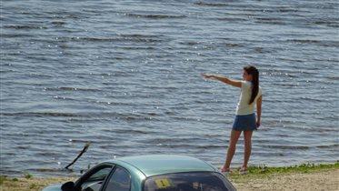 На берегу реки Оки.