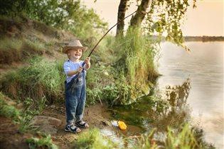 На рыбалке!