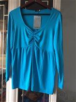 Голубая блуза Liora р.52 вискоза