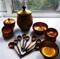 Деревянная посуда- она теплая!)