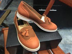 Туфли Тату Рыжевато-коричневые,очень крутые,замша