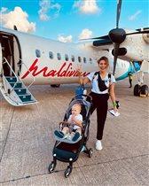 Регина Тодоренко перелет с малышом
