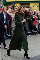 Кейт Миддлтон 2020 пальто Alexander McQueen