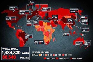 Коронавирус статистика по странам