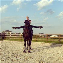 Анастасия Волочкова: шпагаттини на коне. Почему балерина отключила комментарии