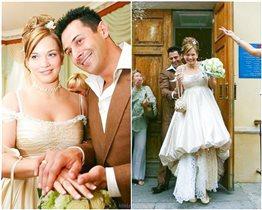 Стас Костюшкин с женой отмечают 14 лет браку: 'Страшненькая беременная невеста в странном платье'