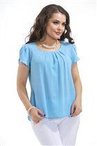 Сиреневая летняя блуза 52-54