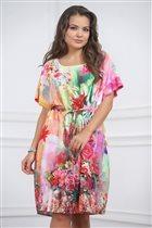 Яркое, невесомое платье 52-54