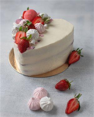 Торт-валентинка